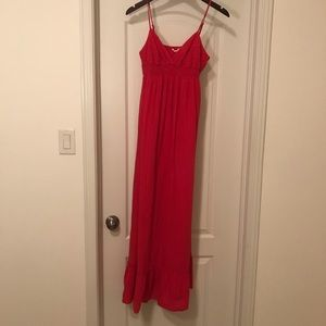 Forever 21 hot pink maxi dress - size M